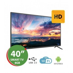 "TV LED 40"" HD SMART TV ANDROID 7.1 (1/8GB) SILVER"